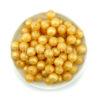 Szilikon gyöngy 12mm-arany
