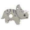Szilikon rágóka-Triceratops-szürke