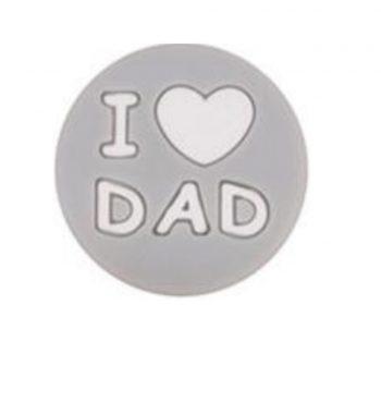 I LOVE DAD gyöngy 20mm-szürke