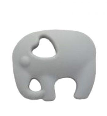 Szilikon rágóka-Elefánt 2-szürke