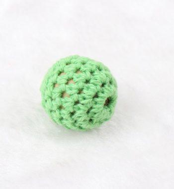 Horgolt gyöngy-zöld