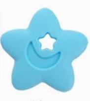 Szilikon rágóka-Csillag-kék