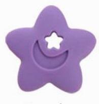 Szilikon rágóka-Csillag-lila
