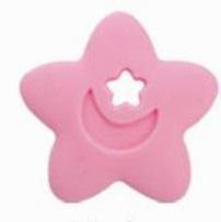 Szilikon rágóka-Csillag-pink