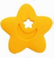 Szilikon rágóka-Csillag-sárga