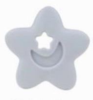 Szilikon rágóka-Csillag-szürke