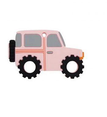 Szilikon rágóka-Terepjáró-rózsaszín