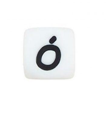Szilikon betű gyöngy 12mm-Ó