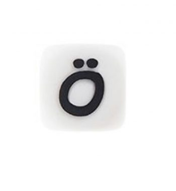 Szilikon betű gyöngy 12mm-Ö