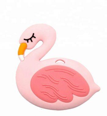 Szilikon rágóka-Flamingó-rózsaszín
