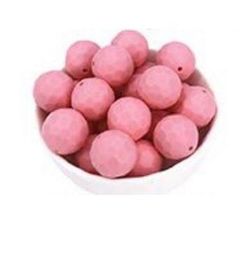 Fazettált gyöngy 16mm-quartz pink