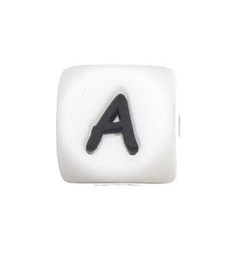Szilikon betű gyöngy-12mm-A