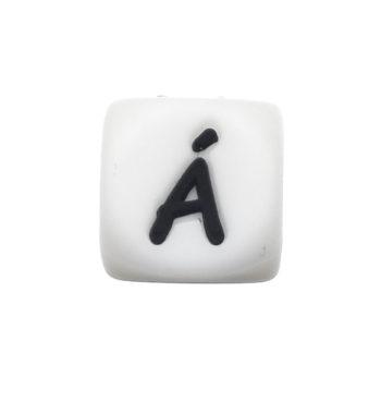 Szilikon betű gyöngy-12mm-Á