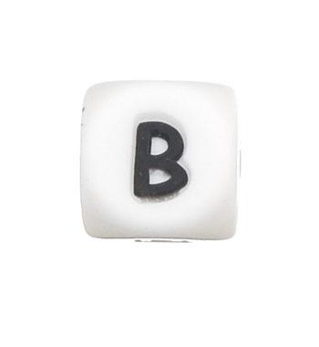 Szilikon betű gyöngy-12mm-B