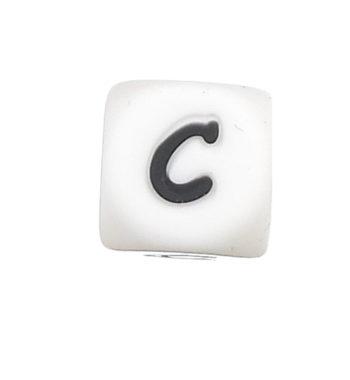 Szilikon betű gyöngy-12mm-C