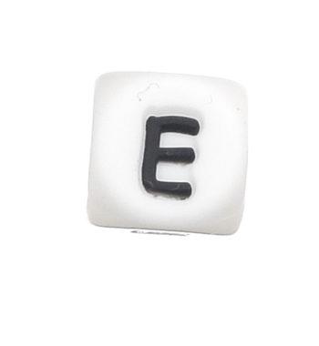 Szilikon betű gyöngy-12mm-E