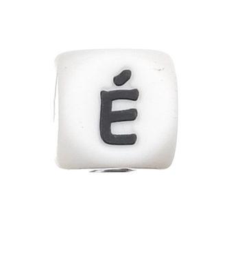 Szilikon betű gyöngy-12mm-É