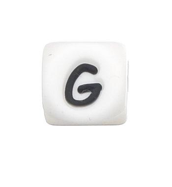 Szilikon betű gyöngy-12mm-G