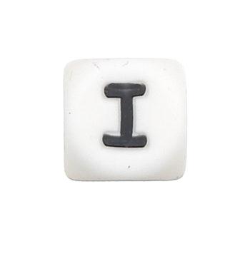 Szilikon betű gyöngy-12mm-I