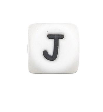 Szilikon betű gyöngy-12mm-J