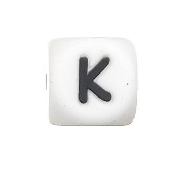 Szilikon betű gyöngy-12mm-K