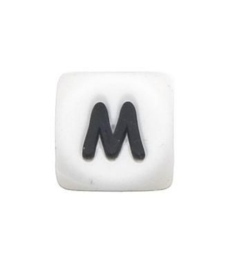 Szilikon betű gyöngy-12mm-M