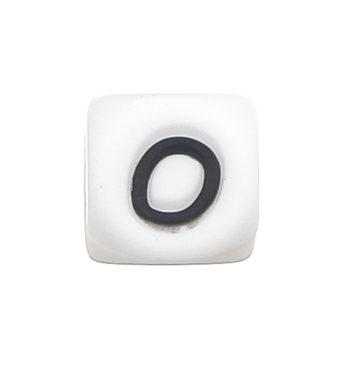 Szilikon betű gyöngy-12mm-O