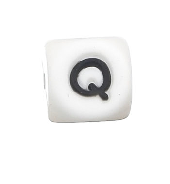 Szilikon betű gyöngy-12mm-Q