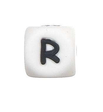 Szilikon betű gyöngy-12mm-R