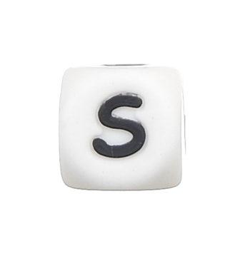 Szilikon betű gyöngy-12mm-S