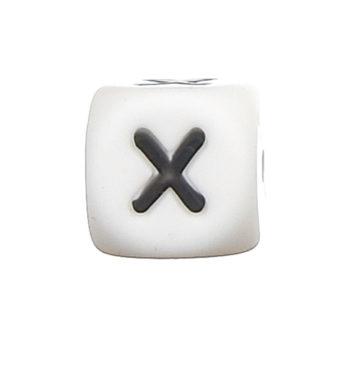 Szilikon betű gyöngy-12mm-X