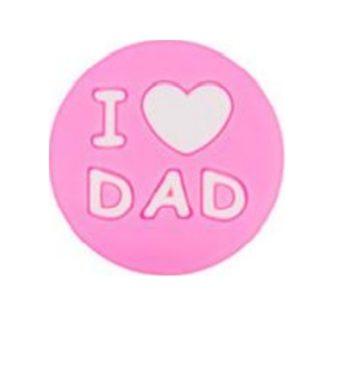 I LOVE DAD gyöngy-pink