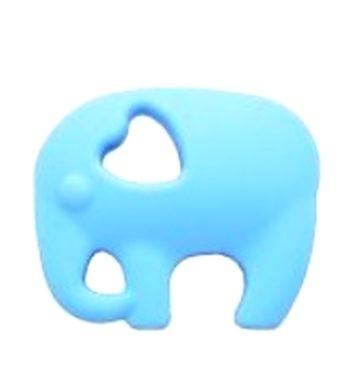 Szilikon rágóka-Elefánt 2-pasztelkék