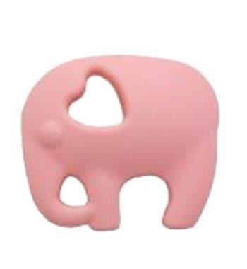 Szilikon rágóka-Elefánt 2-candy pink