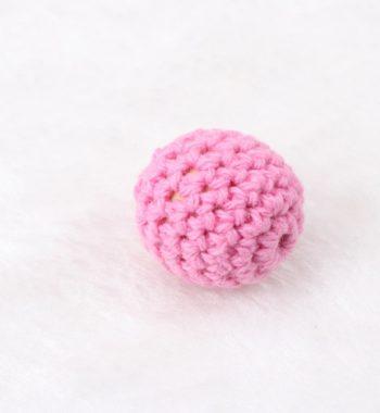Horgolt gyöngy-rózsaszín